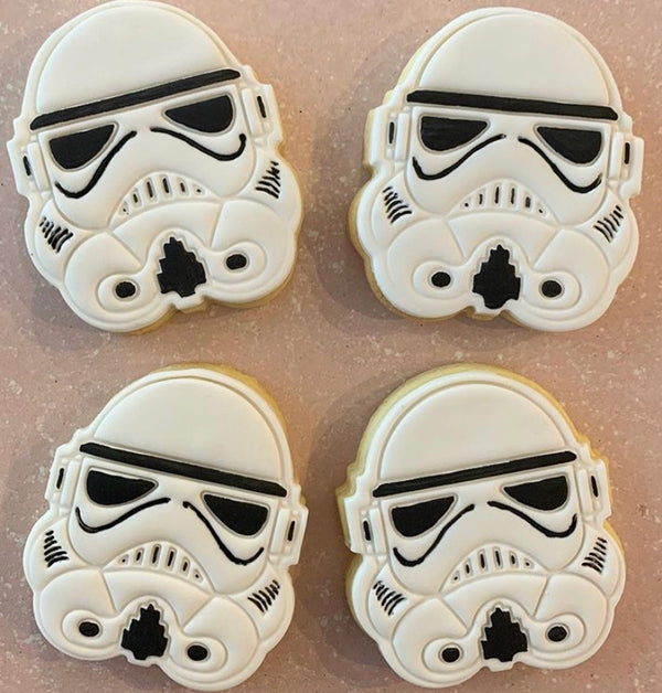 Storm Trooper Star Wars Cookie Cutter and Stamp Set