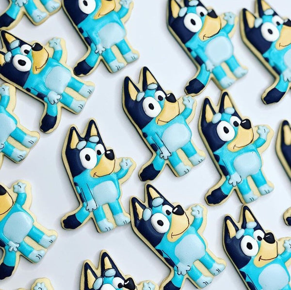 Bluey Cookies made with our Cookie Cutter & Fondant Stamp Set