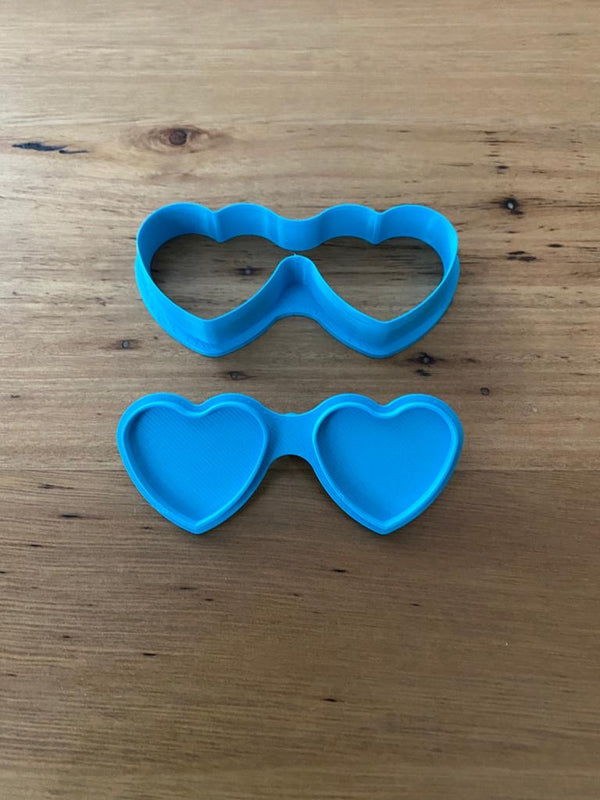 Heart shape sunglasses cookie cutter