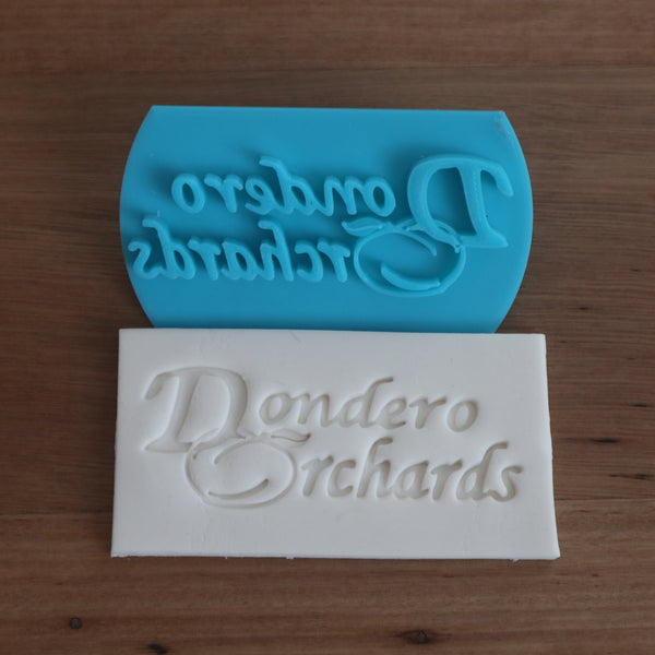 business name custom stamp emboss
