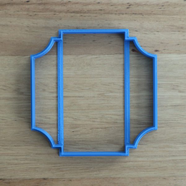 Plaque frame style #3 (Square) cookie cutter measures approx. 100mm tall by 100mm wide.   Don't miss our other plaques, frames and shape cookie cutters  - just type in Frames or Shapes into our search bar.