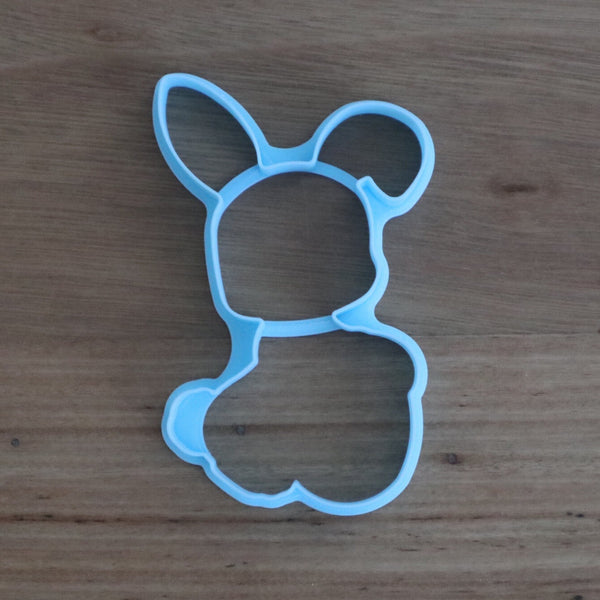 "Easter Bunny holding Easter Egg Cutter & Optional Stamp measures approx. 100mm tall by 60mm wide.  Also, don't miss our other Easter themed cookie cutters, search for ""Easter"" in our search bar"