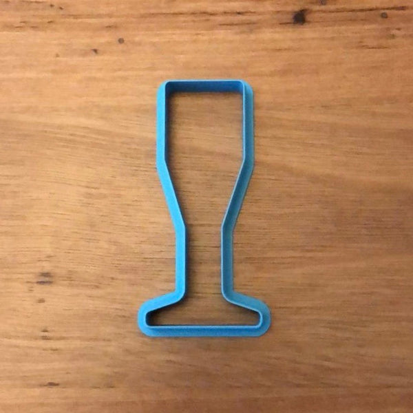 Champagne Wine Glass Cookie Cutter measures approx. 90mm tall.  Why not pair it with our Champagne bottle measuring 100mm tall? Select the options to bundle and save when you order!