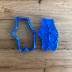 Ballet shoe Cookie Cutter with optional stamp