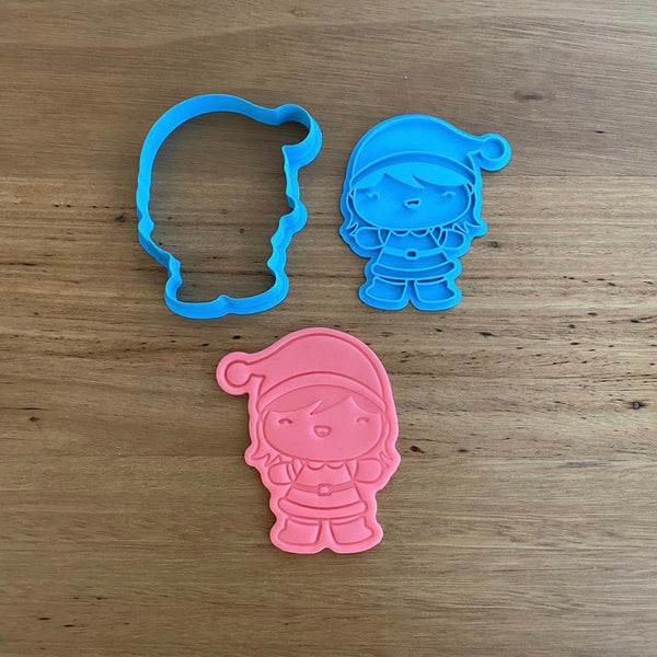 Girl Santa Christmas Cookie Cutter & Emboss Stamp