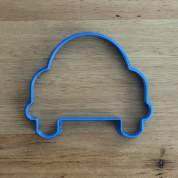 "Car Cookie Cutter - 2 sizes available  1) measures approx. 75mm tall by 90mm wide  2) measures approx. 90mm tall by 100mm wide  Excellent robust Quality with a neat cutting edge. We target next day delivery. Custom designs are possible if you want a different size, or design. Just send an enquiry, or see our custom cookie cutter item, found under the ""Custom Items"" menu."