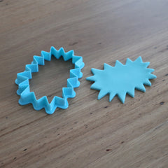 Superhero BAM POW ZAP speech bubble cutter