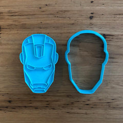 Ironman Cookie Cutter & Optional Stamp