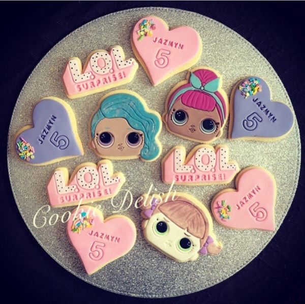 LOL Doll Cookie Cutter and Fondant Cutter and Stamp