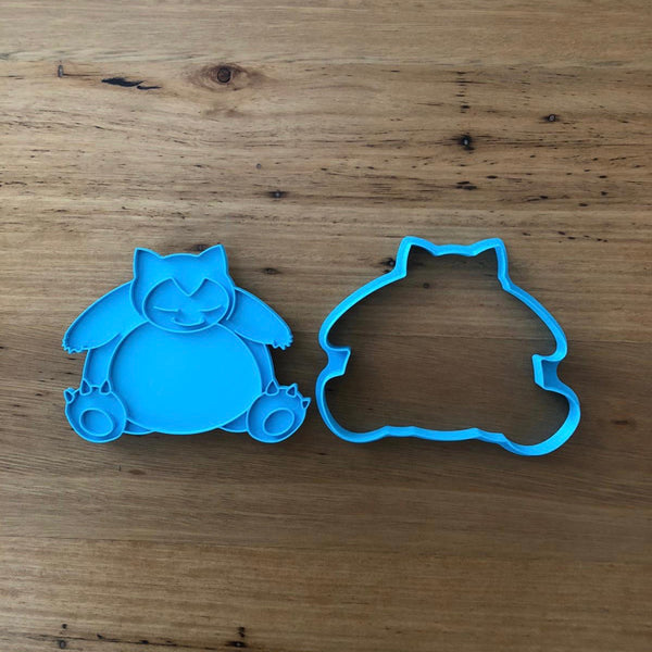 "Pokemon Snorlax Cookie Cutter and Stamp measures approx. 90mm tall.  Also, don't miss our other Pokemon or Kids themed cookie cutters, search for ""Kids"" or ""Pokemon"" in our search bar.  Cookie Pics courtesy of @petitecookies"