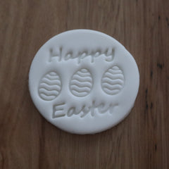 Happy Easter Emboss Stamp with Eggs