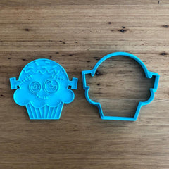 Halloween Scary Face Frankenstein Cup Cake Cookie Cutter and Stamp Set