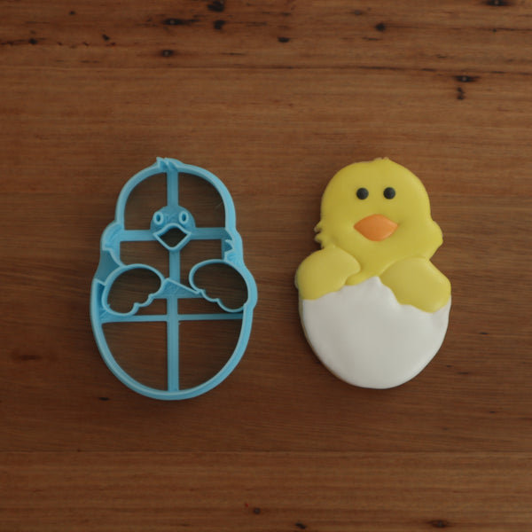 Easter Chick in Easter Egg with internal stamp details
