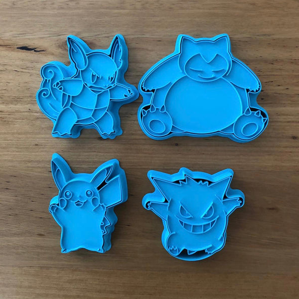Pokemon Gengar Cookie Cutter and Stamp measures approx. 90mm tall.  Also, don't miss our other Pokemon or Kids themed cookie cutters, search for