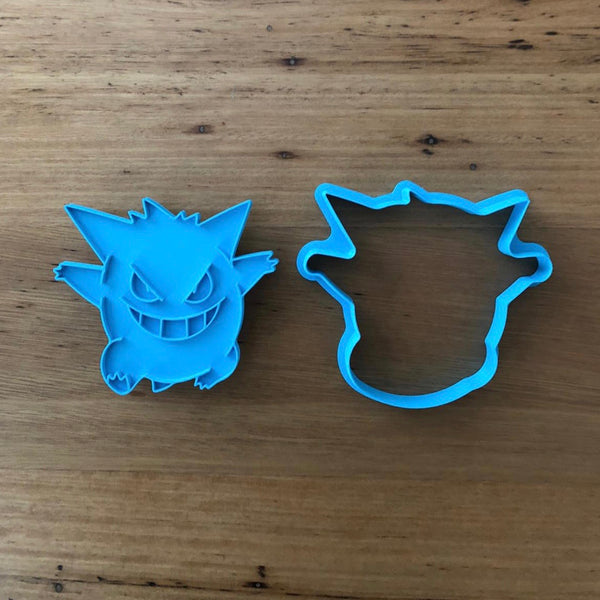 "Pokemon Gengar Cookie Cutter and Stamp measures approx. 90mm tall.  Also, don't miss our other Pokemon or Kids themed cookie cutters, search for ""Kids"" or ""Pokemon"" in our search bar."