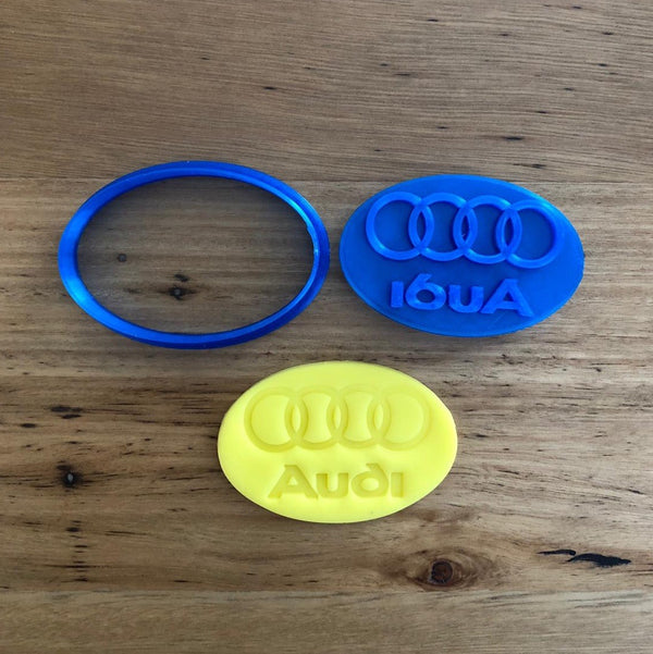 Audi logo cookie cutter and fondant stamp