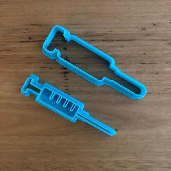 Syringe Cookie Cutter and optional Stamp