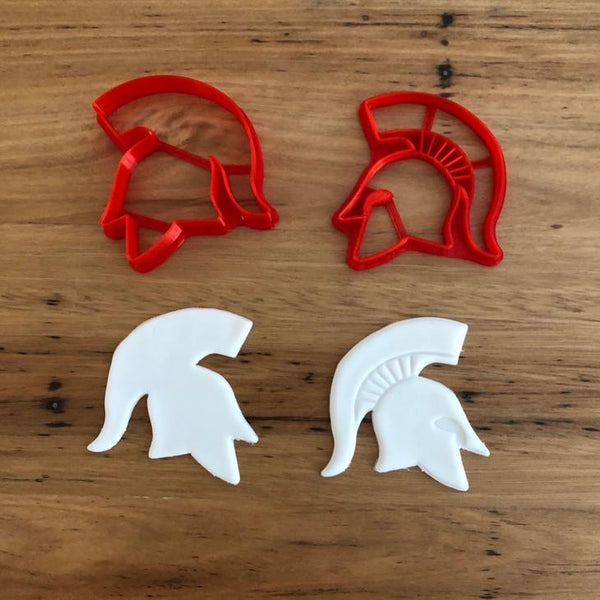 Trojan Helmet Cookie and Fondant Cutter / Stamp set