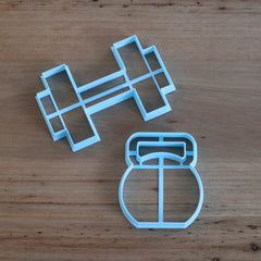 Dumbbell and Kettlebell Cookie Cutter set of 2