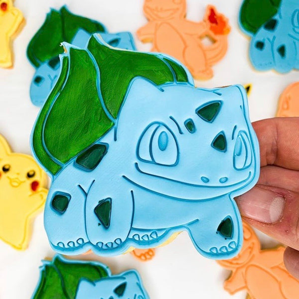Pokemon Bulbasaur Cookie Cutter and Stamp
