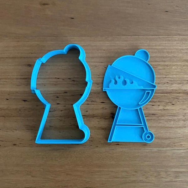 "BBQ Cookie Cutter and Optional Stamp measures approx. 100mm tall by 60mm wide.  Be sure to look at our other Summer theme cookie cutters in our ""Summer"" section."