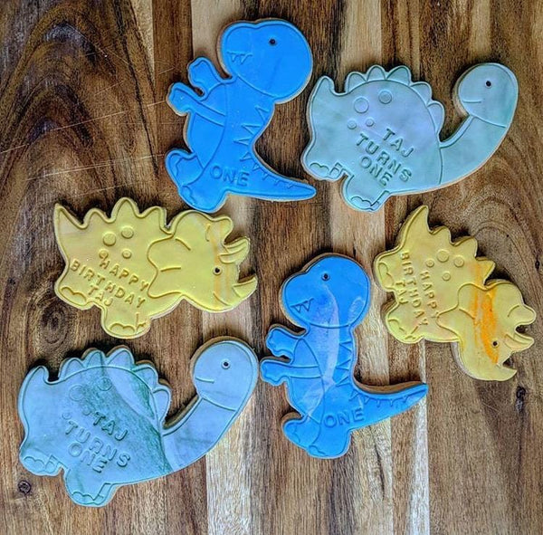 Stegosaurus Dinosaur cookie cutter and fondant cutter and stamp