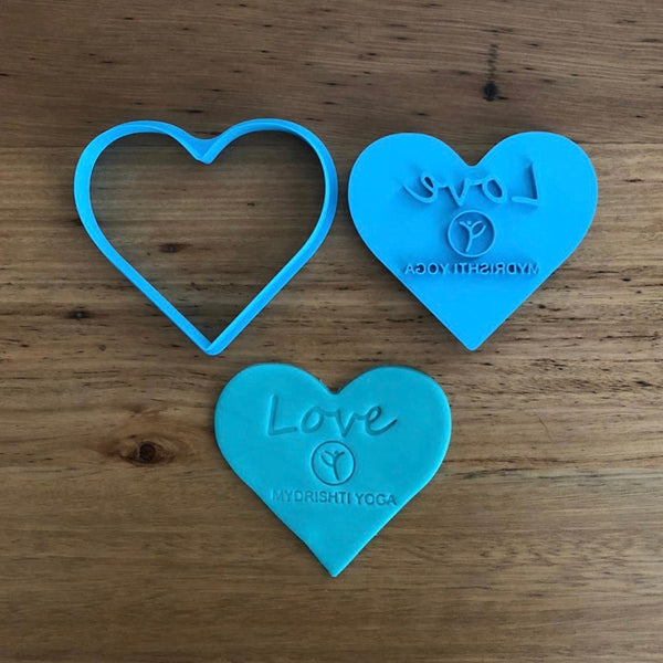 custom cookie cutter and emboss stamp for any occasion logo, birthday, christening, love, wedding, anniversary