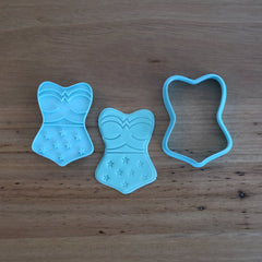 Wonder Woman Corset Cookie and Fondant Cutter and optional Stamp