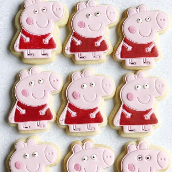 Peppa Pig Cookie Cutter and optional Stamp