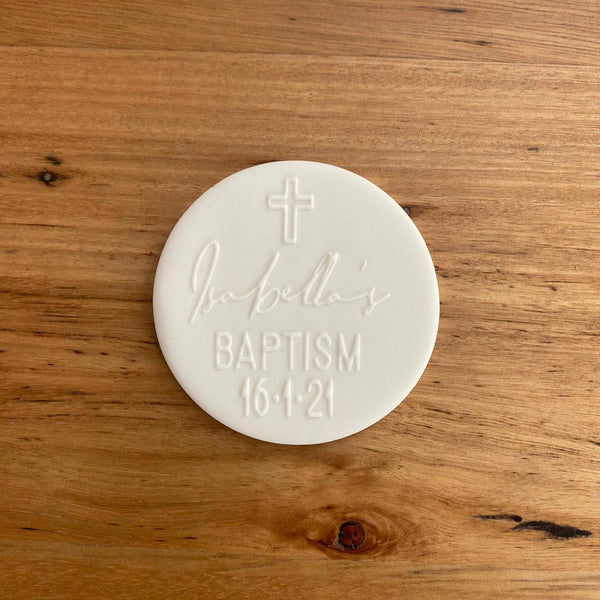 Custom Deboss Raised Effect Stamp | Baptism | Any Design!