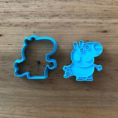 George Pig Cookie Cutter and optional Stamp