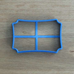 Placque style #1 wide rectangle Cookie Cutter
