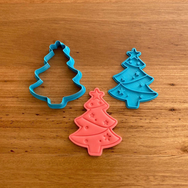 Christmas Tree Cookie Cutter & Emboss Stamp