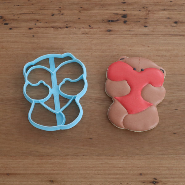 Bear Hugging Heart Cookie Cutter