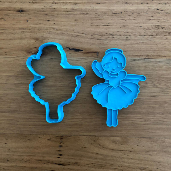 "Ballerina Cookie Cutter and optional Stamp measures approx. 92mm tall by 65mm wide  This design comes with the option of the outline cutter, or with a seperate stamp.  Don't miss our other Ballet themed cookie cutters, search for ""Ballet"" in our search bar."