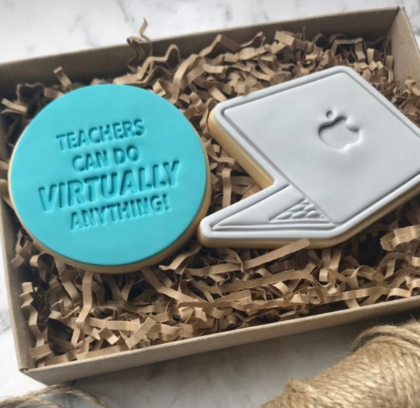Teachers can do virtually anything Cookie Emboss Stamp