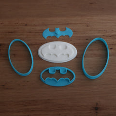Batman Cookie Cutter and Stamp set