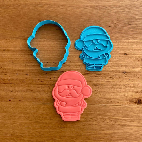 Santa Father Christmas Cookie Cutter & Emboss Stamp
