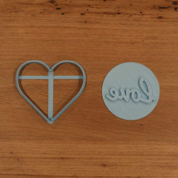 Heart Cookie Cutter and Love Stamp