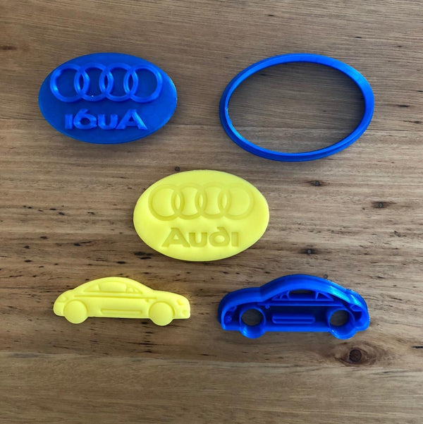Audi car logo cookie cutter with internal stamp