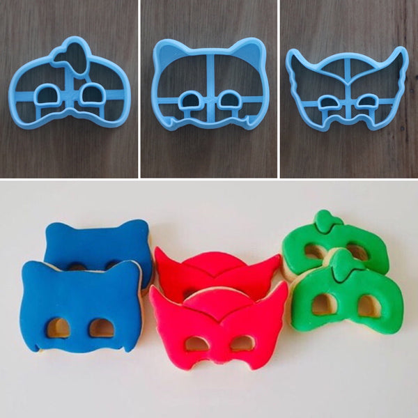 PJ Mask masks cookie & fondant cutter