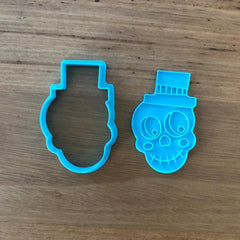 Halloween Skeleton Face Cookie Cutter and Stamp Set