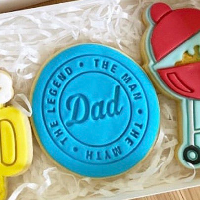 Happy Father's Day Emboss Stamp style #1 for 70mm Cookies  We have a range of Father's Day Emboss stamps