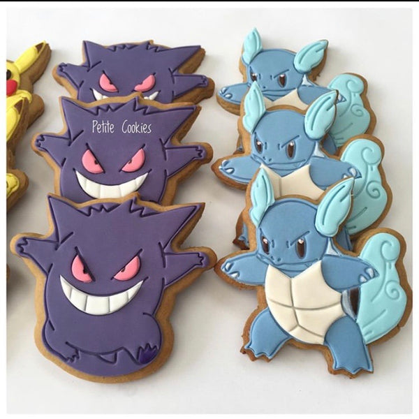 Pokemon Wartortle Cookie Cutter and Stamp measures approx. 90mm tall.  Also, don't miss our other Pokemon or Kids themed cookie cutters, search for