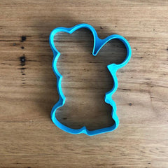 Easter Bunny holding Easter Eggs Cutter with optional Stamp