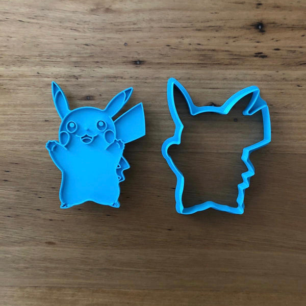 "Pokemon Pikachu Cookie Cutter and Stamp measures approx. 90mm tall.  Also, don't miss our other Pokemon or Kids themed cookie cutters, search for ""Kids"" or ""Pokemon"" in our search bar.  Cookie Pics courtesy of @petitecookies"