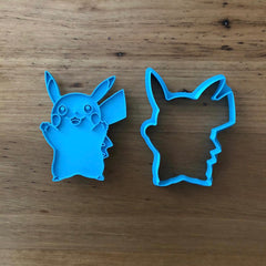 Pokemon Pikachu Cookie Cutter and Stamp