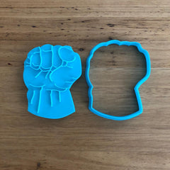 Hulk Fist Cookie and Fondant Cutter and Stamp set
