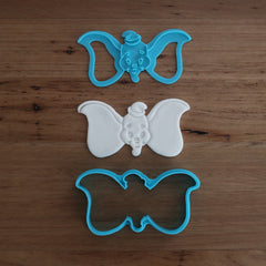 Dumbo Elephant Cookie or Fondant Cutter and Stamp