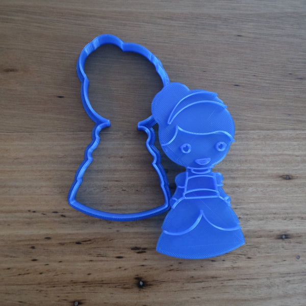 Cinderella Cookie Cutter and optional Stamp